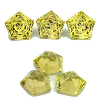 Natural lemon quartz pentagon step cut loose stone