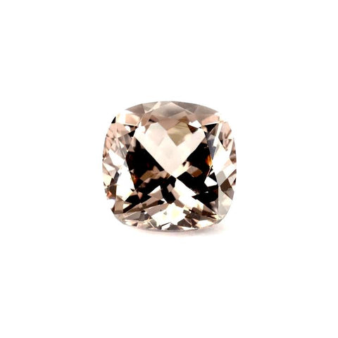 Natural peach morganite cushion 8mm loose stone