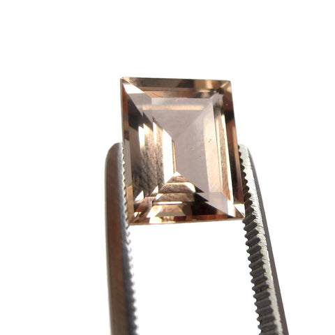 morganite baguette cut 10x8mm loose gemstone
