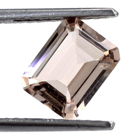 morganite octagon emerald cut 9x7mm genuine gemstone