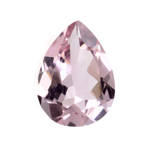 morganite pear cut 9x7mm pink natural gemstone