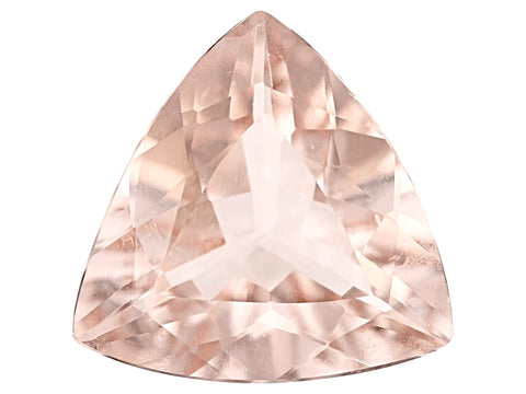 Morganite trillion cut - 6mm (peach)