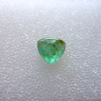 Emerald Cabochon Trillion Shape - 7 x 3 mm