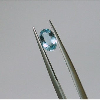Aquamarine oval shape - 7.7 x 5 mm