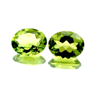 natural peridot oval cut 9x7mm loose gemstone