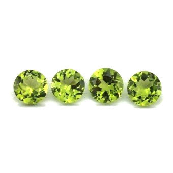 Peridot round cut 7mm loose gemstone