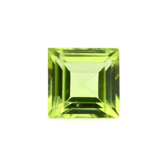 Beautiful peridot - Square - 7 mm