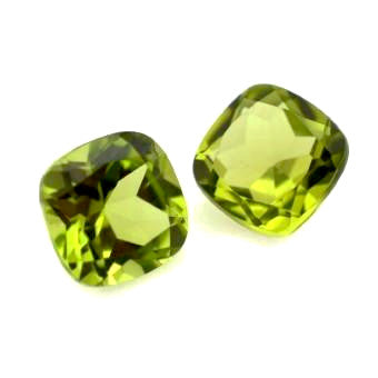 Natural peridot cushion cut 5mm loose gemstone