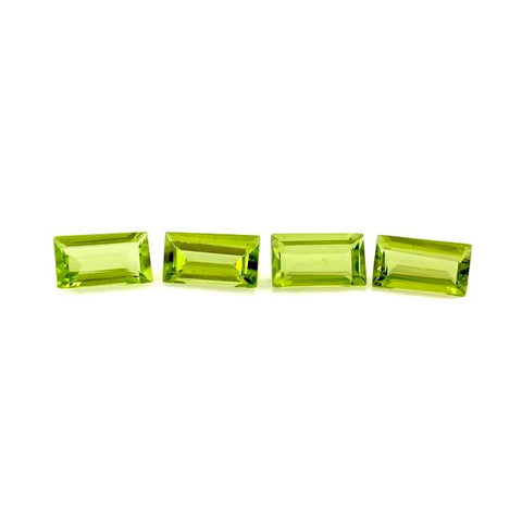 Natural peridot baguette cut 7x4mm loose gemstone