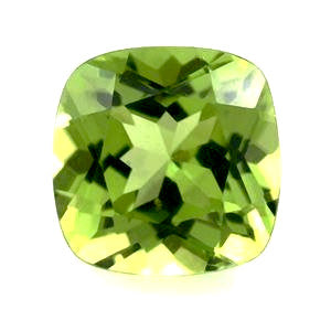 peridot cushion 8mm gem