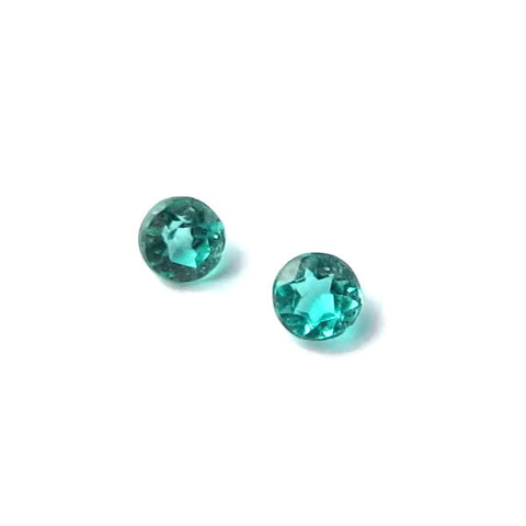 Natural paraiba tourmaline round cut 1.6mm gemstone from Brazil