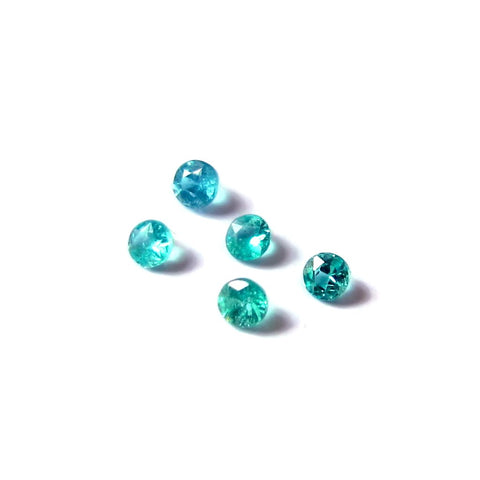Natural paraiba tourmaline round cut 1.7mm gemstone from Brazil