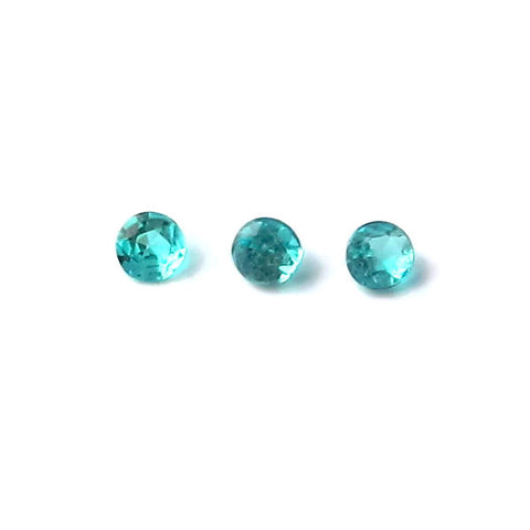Natural paraiba tourmaline round cut 1.65mm gemstone from Brazil