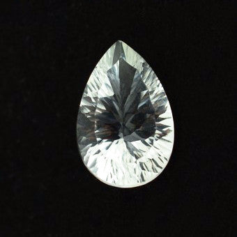 natural crystal quartz pear concave cut loose stone from Brazil
