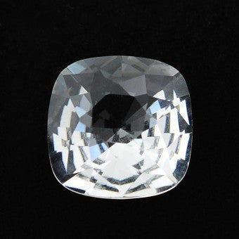 Crystal Quartz cushion double brilliant cut - 15 mm