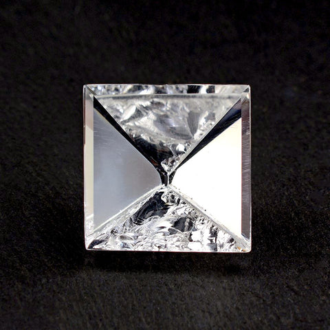 natural crystal quartz square mirror cut 20mm gemstone