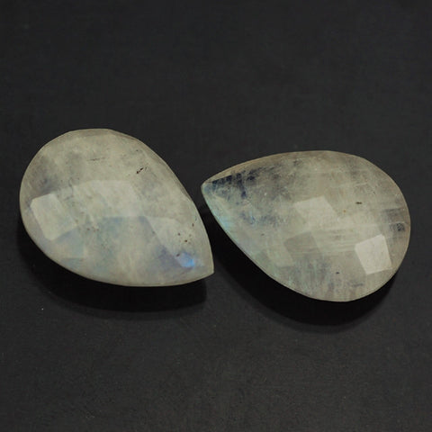 Natural rainbow moonstone pear cut briolette gemstone