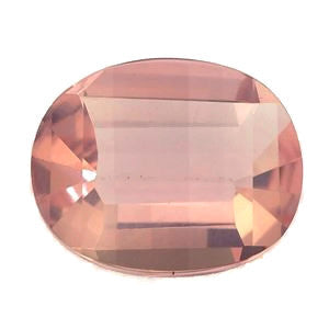 natural rose quartz oval step-cut 13x10mm loose gemstone