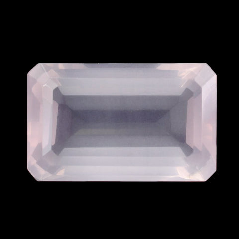 natural rose quartz octagon cut 16x10mm loose gemstone