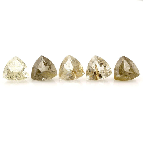 Rutile Quartz trillion cut - 10mm
