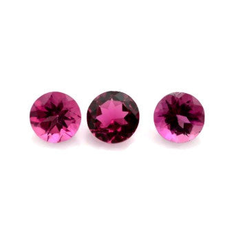 natural pink tourmaline round cut 4mm gemstone