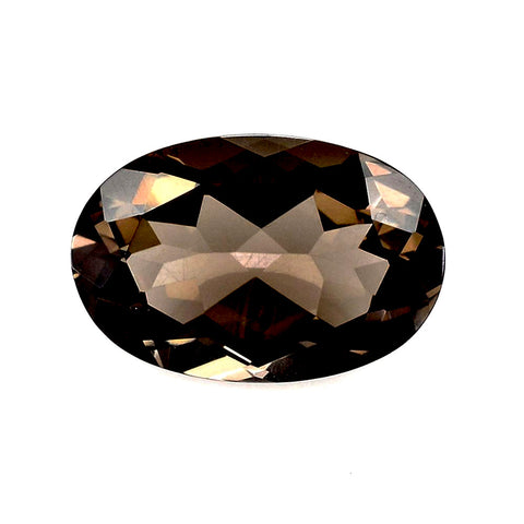 smoky quartz brown oval cut 22x16mm loose stone
