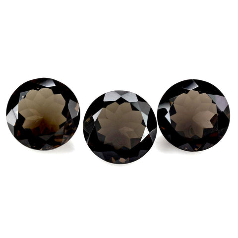smoky quartz round brilliant cut 5mm loose gemstone