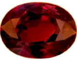 red tourmaline oval cut 8x6mm gemstone