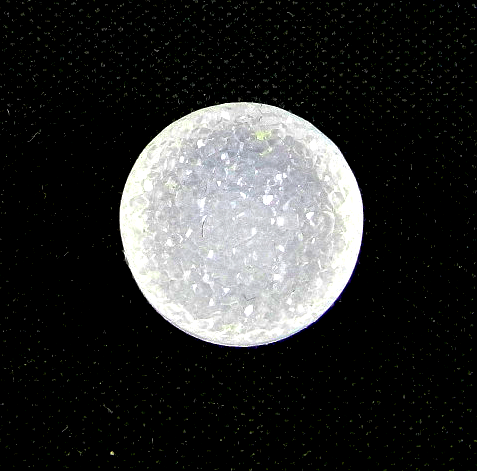 drusy round cut 8mm white loose gemstone