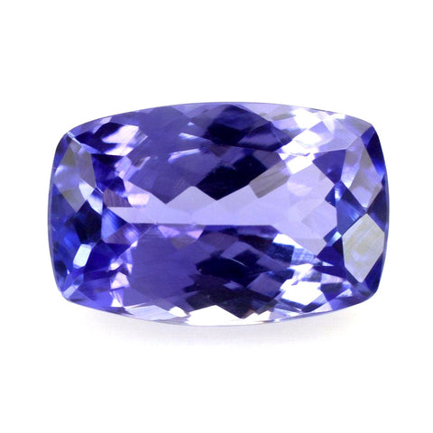 Tanzanite cushion octagon cut 10x6.5mm genuine jewel
