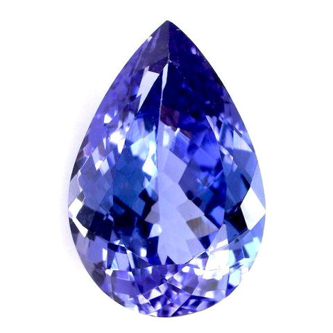 Tanzanite pear cut 12x8mm extra quality gemstone