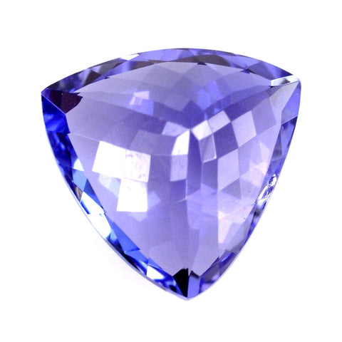 mm purple cushion carats gemstone color tanzanite intense gem blue stunning