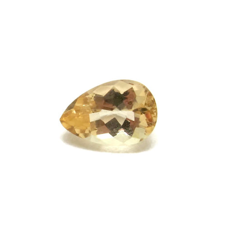 imperial topaz yellow pear cut loose gemstone 8x5.5mm
