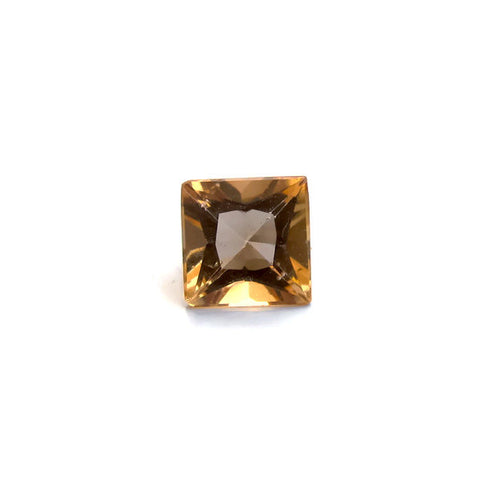 Natural imperial topaz princess cut 5mm loose gemstone from brazil