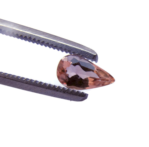 Natural imperial topaz pear cut loose gemstone 6.5x4mm from brazil