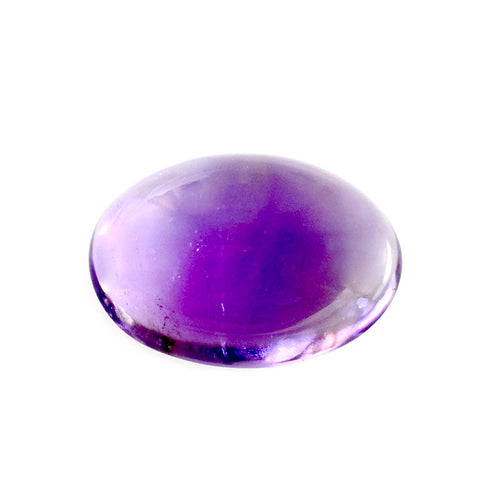 Natural amethyst cabochon oval shape 18x12mm loose stone