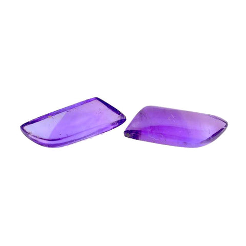 Natural amethyst free-form cabochon 13x4.5mm gemstone