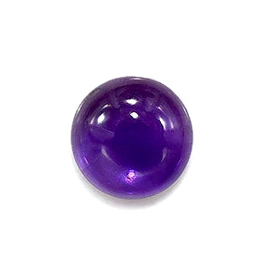 amethyst purple round cabochon 9mm loose gemstone