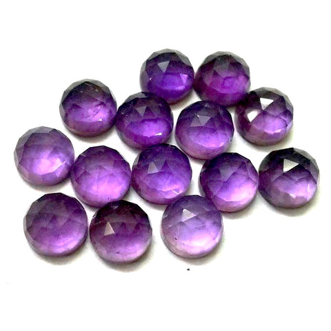 amethyst round rose cut cabochon 6mm loose gemstone