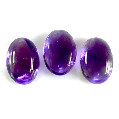 amethyst oval cut cabochon 8X6mm genuine natural gemstone