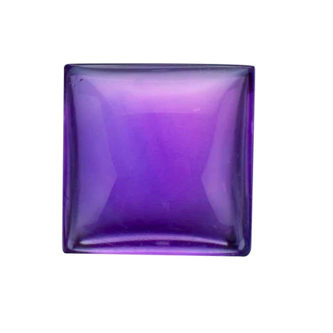 amethyst natural purple square cut cabochon 6mm gemstone