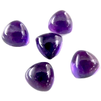 amethyst purple trillion cabochon 5mm loose gemstone