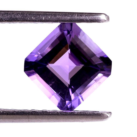 amethyst asscher octagon cut 7mm loose gemstone
