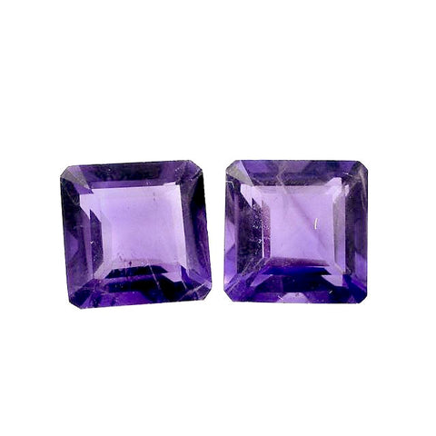 Amethyst octagon cut 7mm natural gemstone