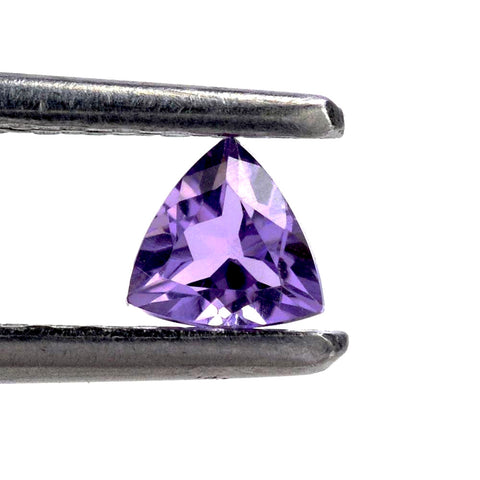 amethyst trillion cut 3mm loose gemstone