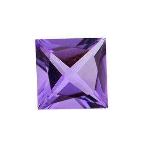 Amethyst square princess cut 6mm loose gemstone