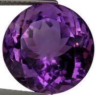 Amethyst purple round cut 11mm natural loose gemstone