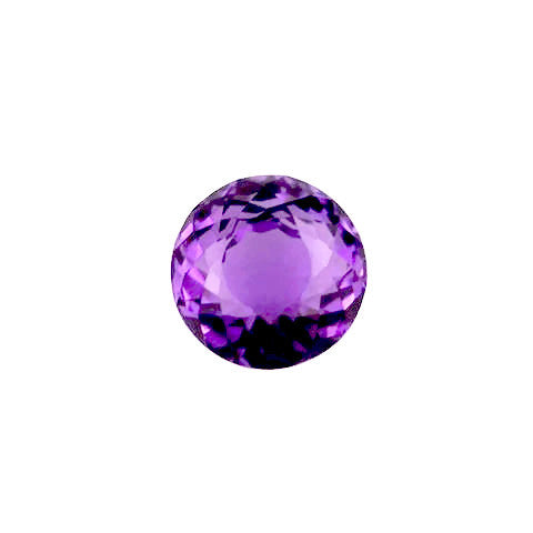 natural amethyst round portuguese cut 12mm gemstone