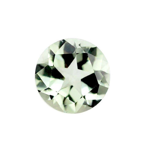 natural green amethyst or prasiolite round cut 8mm gem