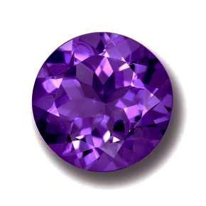 Amethyst round cut - 8mm